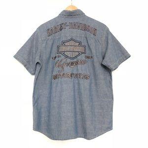 Harley-Davidson Chambray Embroidered Shirt